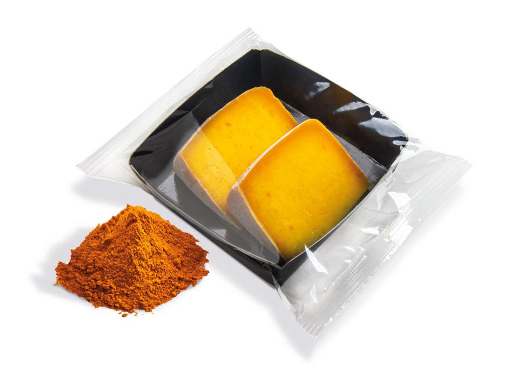 formaggi porzionati alla curcuma