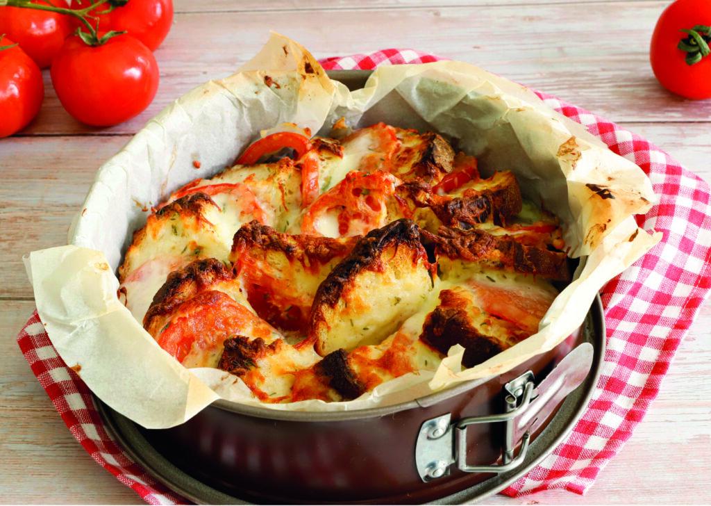 Torta di pane con Formaggio Biellese
