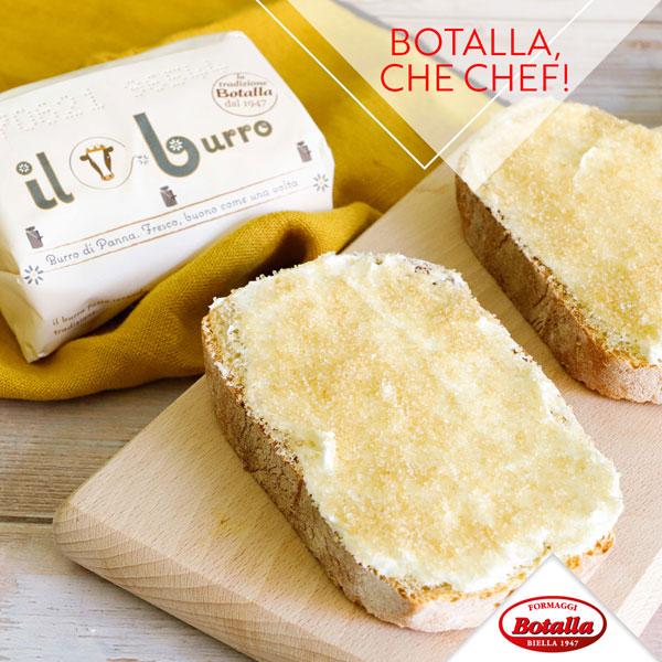 Pane, Burro Botalla e zucchero